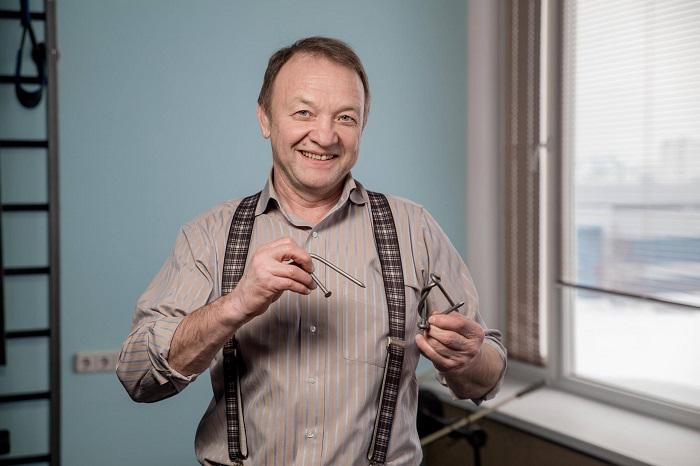 Узел Сотского из двух согнутых гвоздей - визитная карточка создателя тренажера Бизон-1