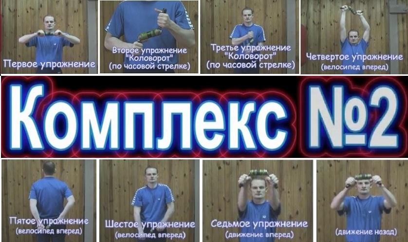 упражнения с комплекса №2 для тренажера Бизон-1М
